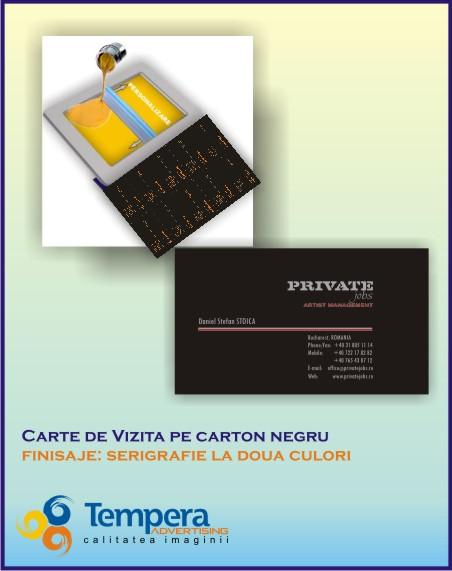 carti de vizita serigrafiate