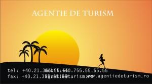 Model carte de vizita agentie de turism