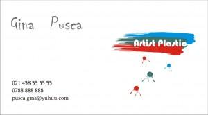 Model carte de vizita artist plastic