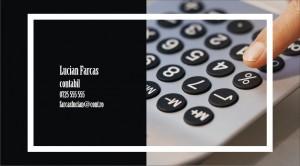 Model carte de vizita contabil